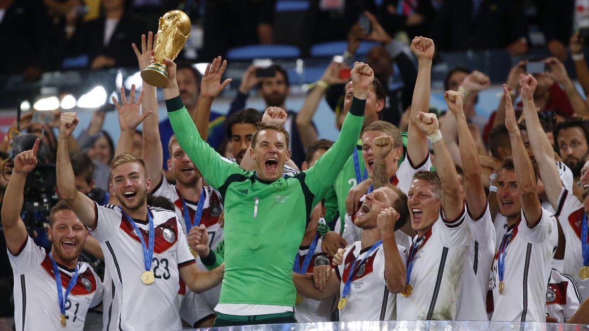 Deutschland feiert den WM-Titel 2014 in Rio de Janeiro