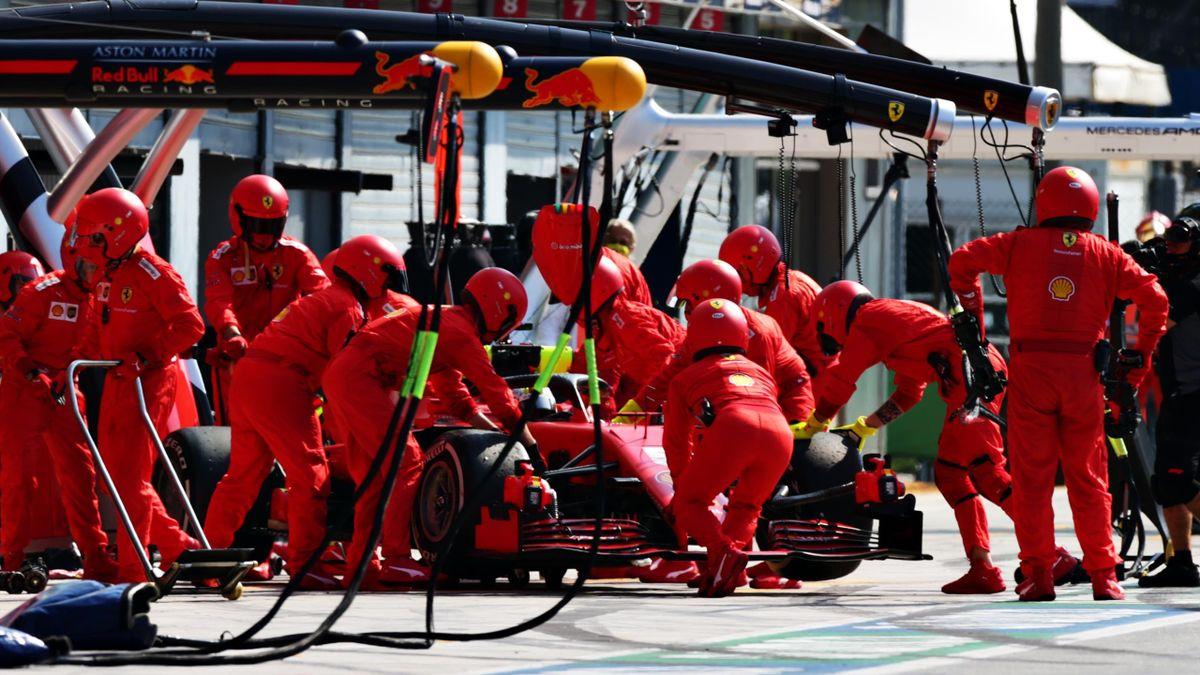 L'abandon de Sebastian Vettel (Ferrari) lors du Grand Prix d'Italie, le 6 septembre 2020