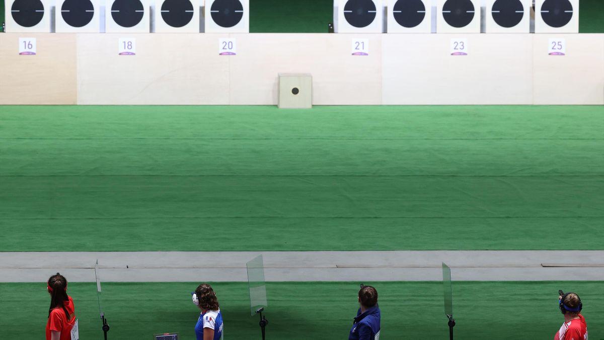 Zielscheiben beim Olympisches Sportschießen