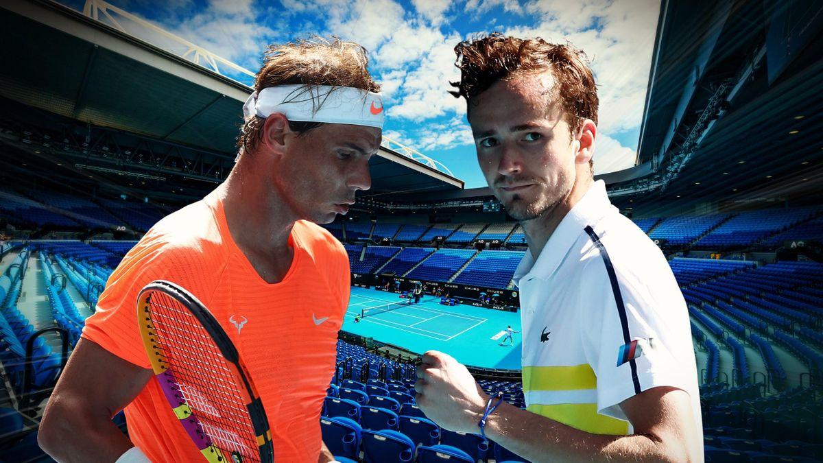 Rafael Nadal et Daniil Medvedev.