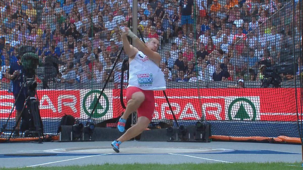 European championship : Hammer throw men final Nowicki