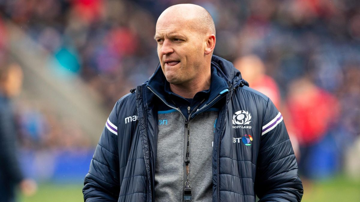 A pensive Scotland Head Coach, Gregor Townsend, before the kick off as Scotland play host to Wales in their 6 Nations clash at Murrayfield Stadium on March 9, 2019 in Edinburgh, Scotland.