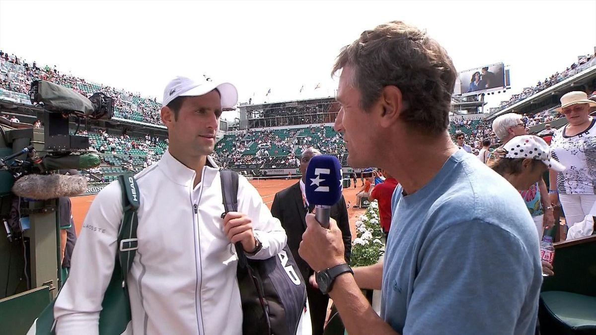 Wilander interviews Djokovic