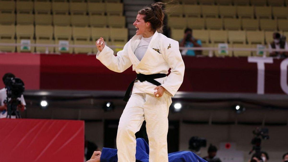 Anna-Maria Wagner hat mit dem deutschen Team im Mixed Olympia-Bronze gewonnen