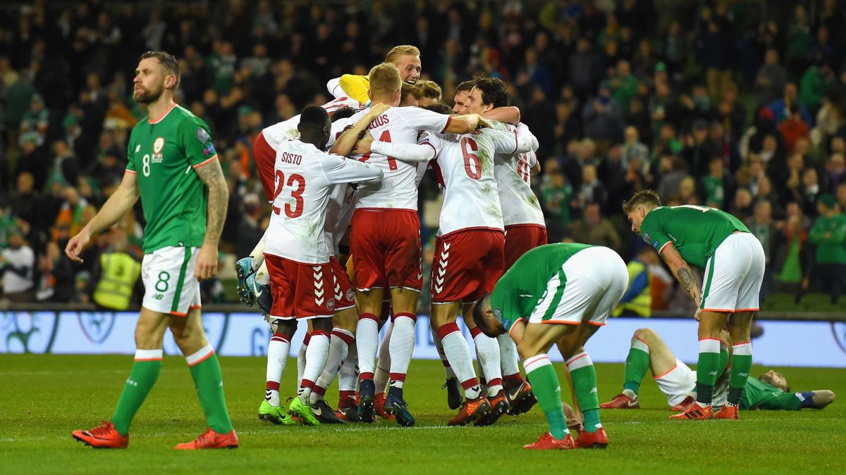 Denmark celebrate victory