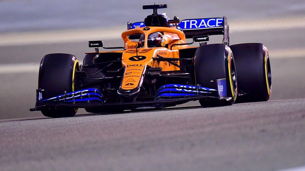 Carlos Sainz (McLaren) durante el Gran Premio de Sakhir