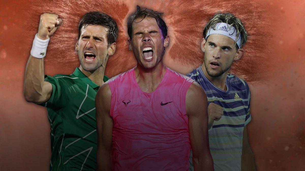 Nadal, Djokovic et Thiem, les principaux favoris de ce Roland-Garros 2020