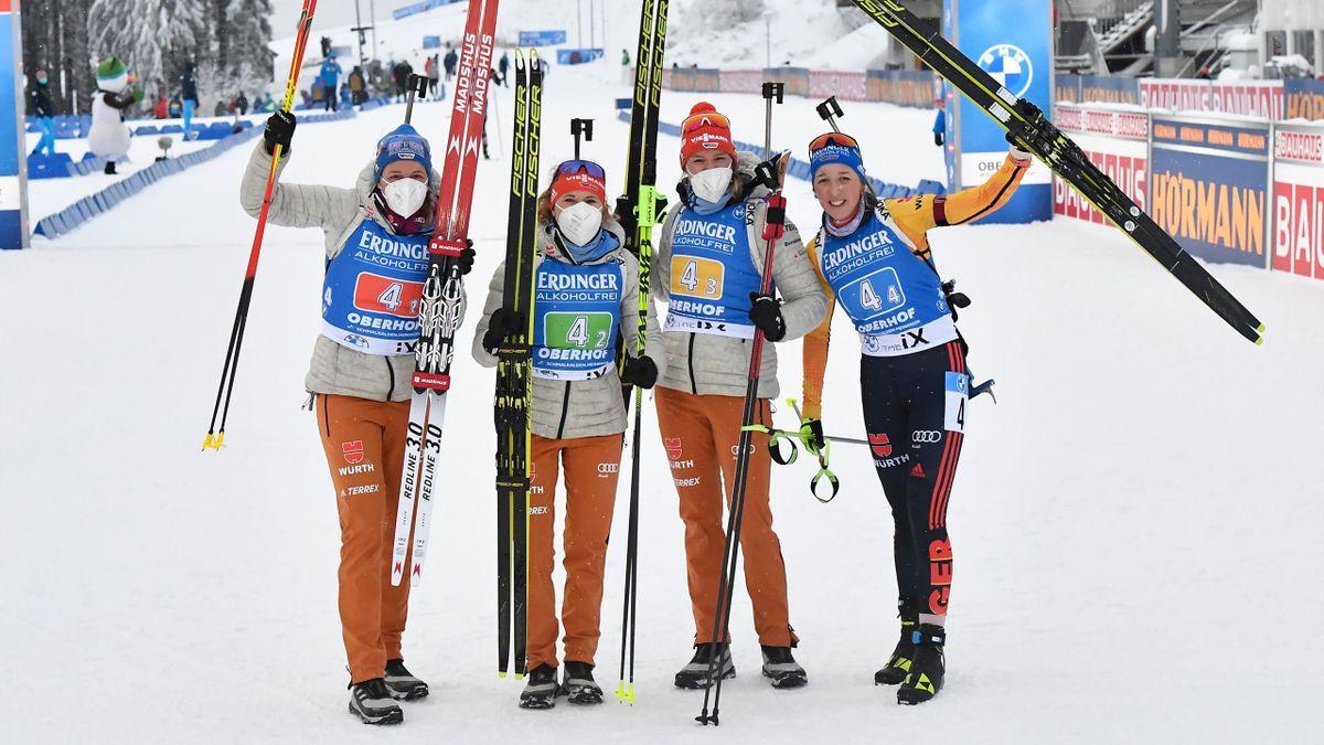 Sieg für die deutsche Damen-Staffel in Oberhof
