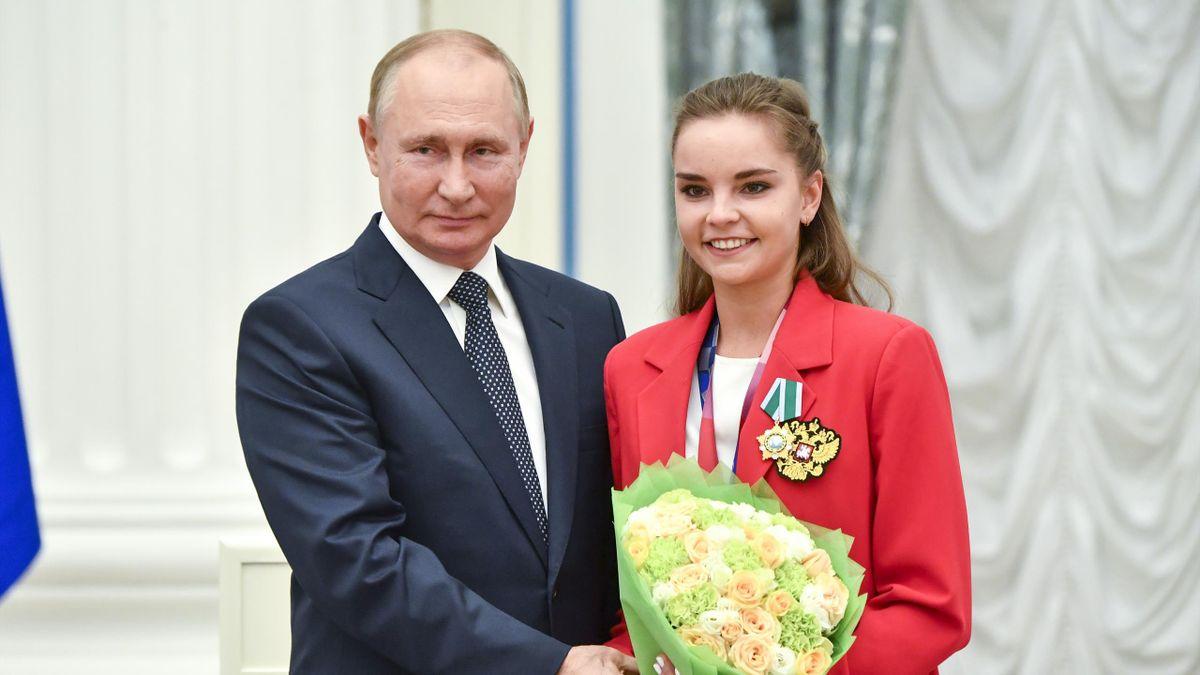 Владимир Путин и Дина Аверина