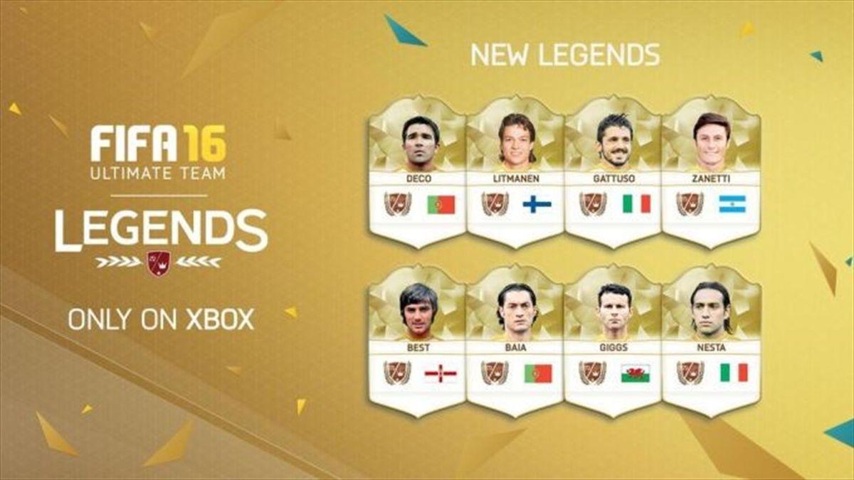 Легенды в FIFA 16