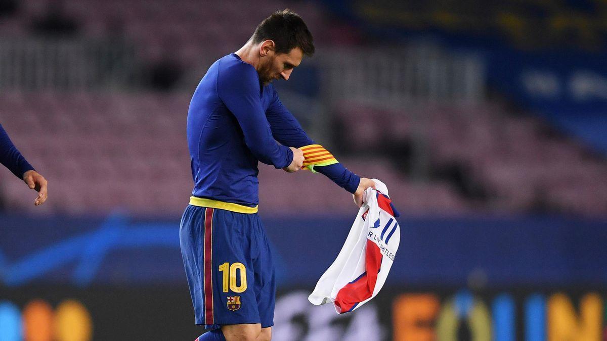 Лионель Месси после матча «Барселона» – «Пари Сен-Жермен»