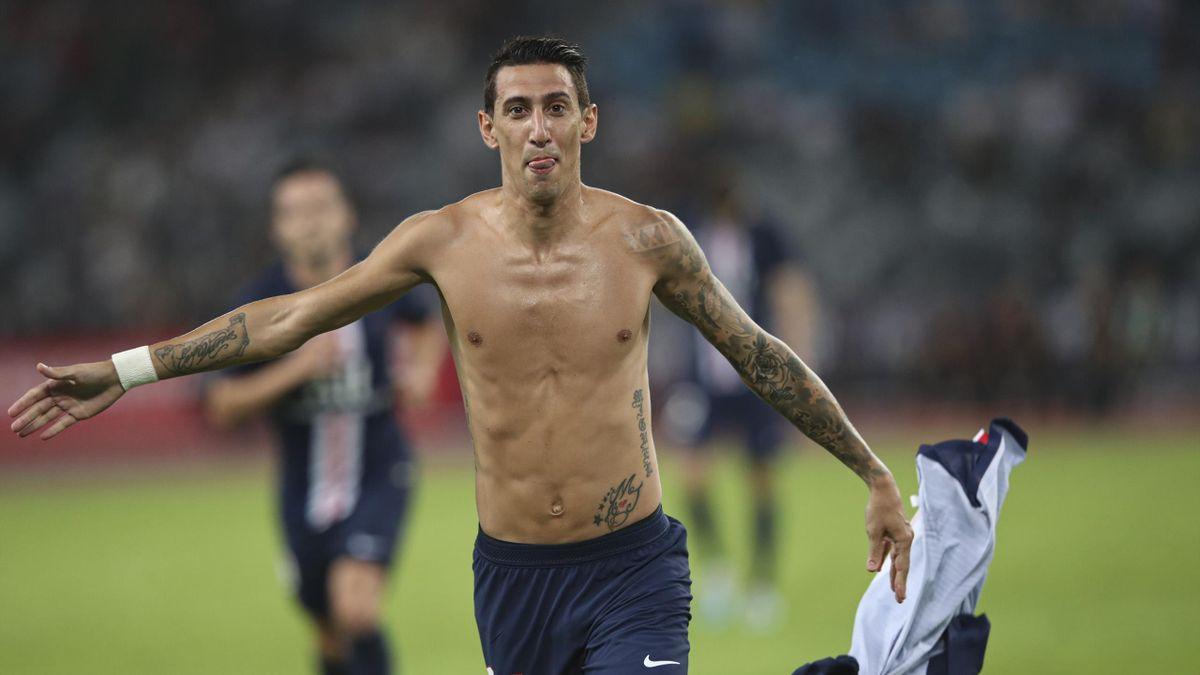 Angel Di Maria cél_bre son but face à Rennes