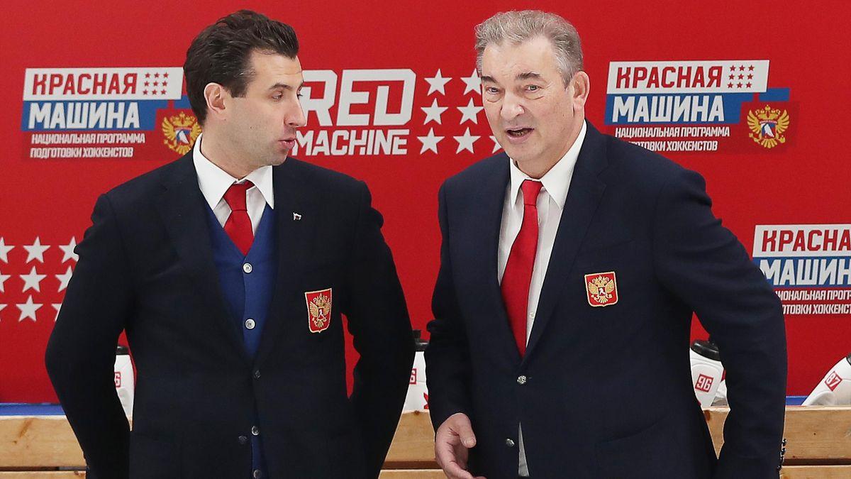 Роман Ротенберг, президент ФХР Владислав Третьяк, Россия