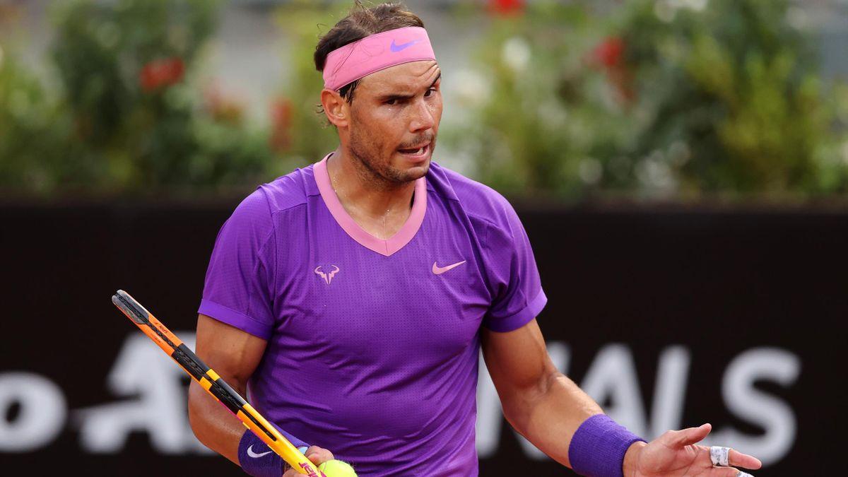 Rafael Nadal lors du Masters 1000 de Rome.