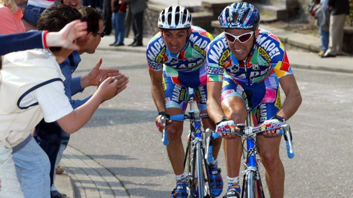 Paolo Bettini, Stefano Garzelli, Liegi - Liège-Bastogne-Liège 2002 - Imago