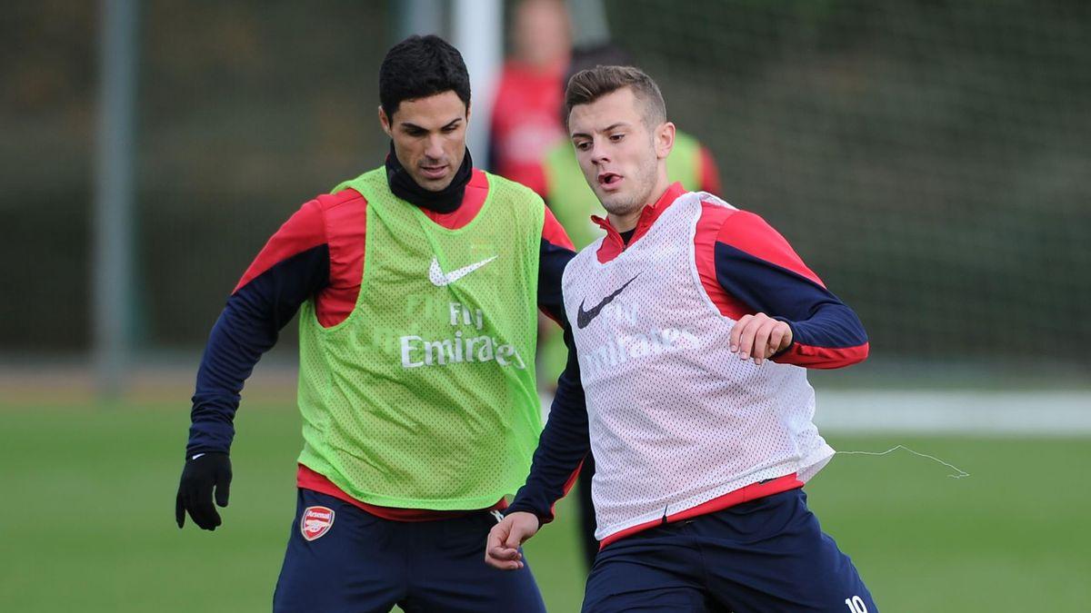 Wilshere and Arteta during their Arsenal days