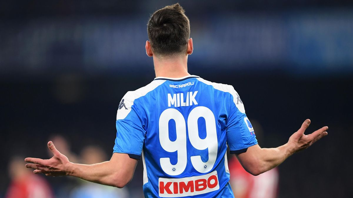 Milik - Napoli-Fiorentina - Serie A 2019/2020 - Getty Images
