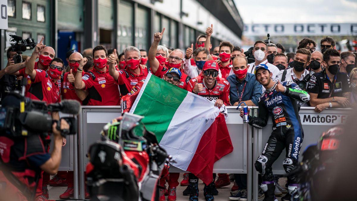 Bagnaia e Bastianini dopo il podio a San Marino