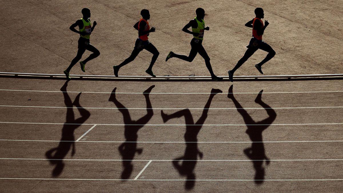 Athlètes sur un 5000m - Photo d'illustration juillet 2014