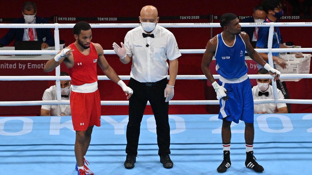 Le boxeur français Samuel Kistohurry s'incline chez les moins de 57kg en 16e de finale du tournoi de boxe des Jeux Olympiques de Tokyo en étant battu aux points par l'Américain Duke Ragan.