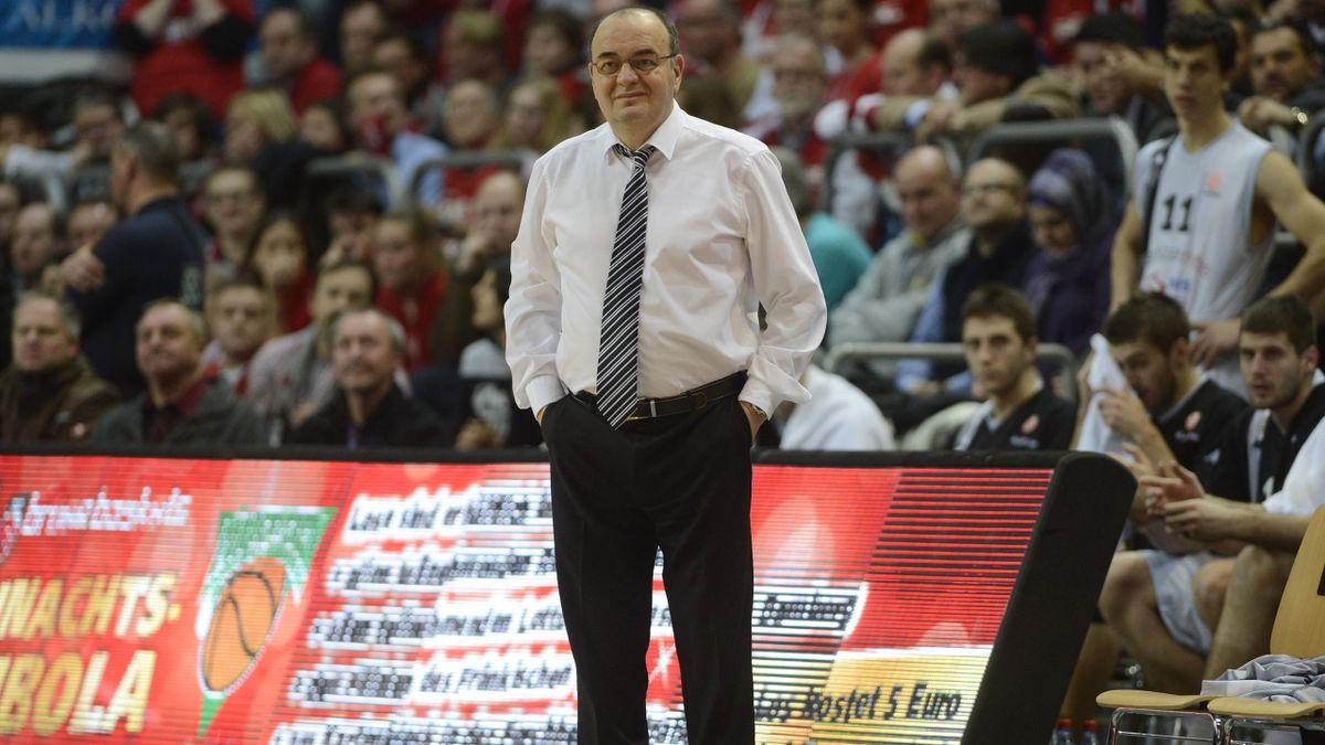 Dusko Vujosevic, alors coach du Partizan Belgrade, en décembre 2012