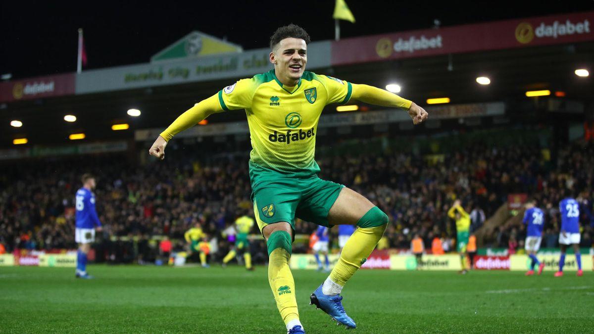 Jamal Lewis celebrates his goal against Leicester