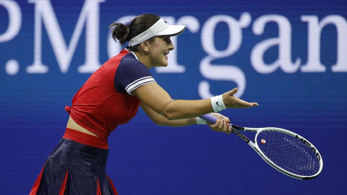 Bianca Andreescu en colère lors de son 8e de finale perdu face à Maria Sakkari à l'US Open 2021