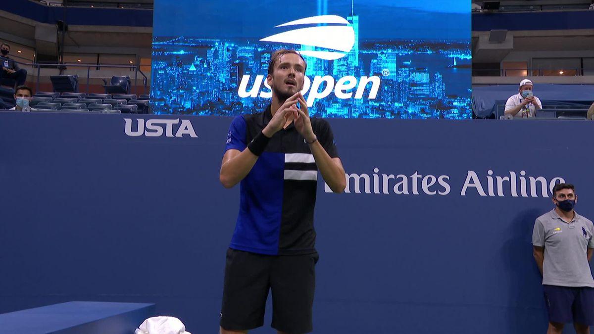 Medvedev a răbufnit în semifinala cu Dominic Thiem de la US Open