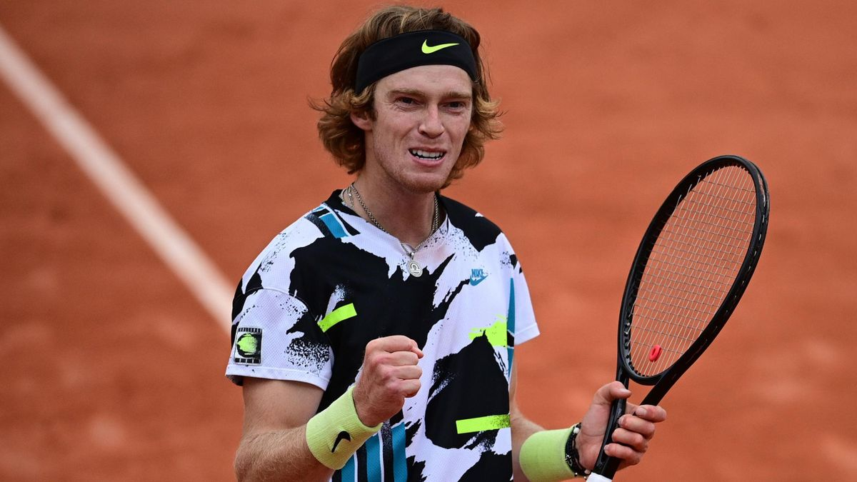 Andrey Rublev is into the quarter-finals at the French Open