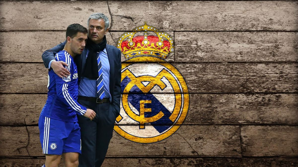 Jose Mourinho and Eden Hazard linked with moves to Real Madrid