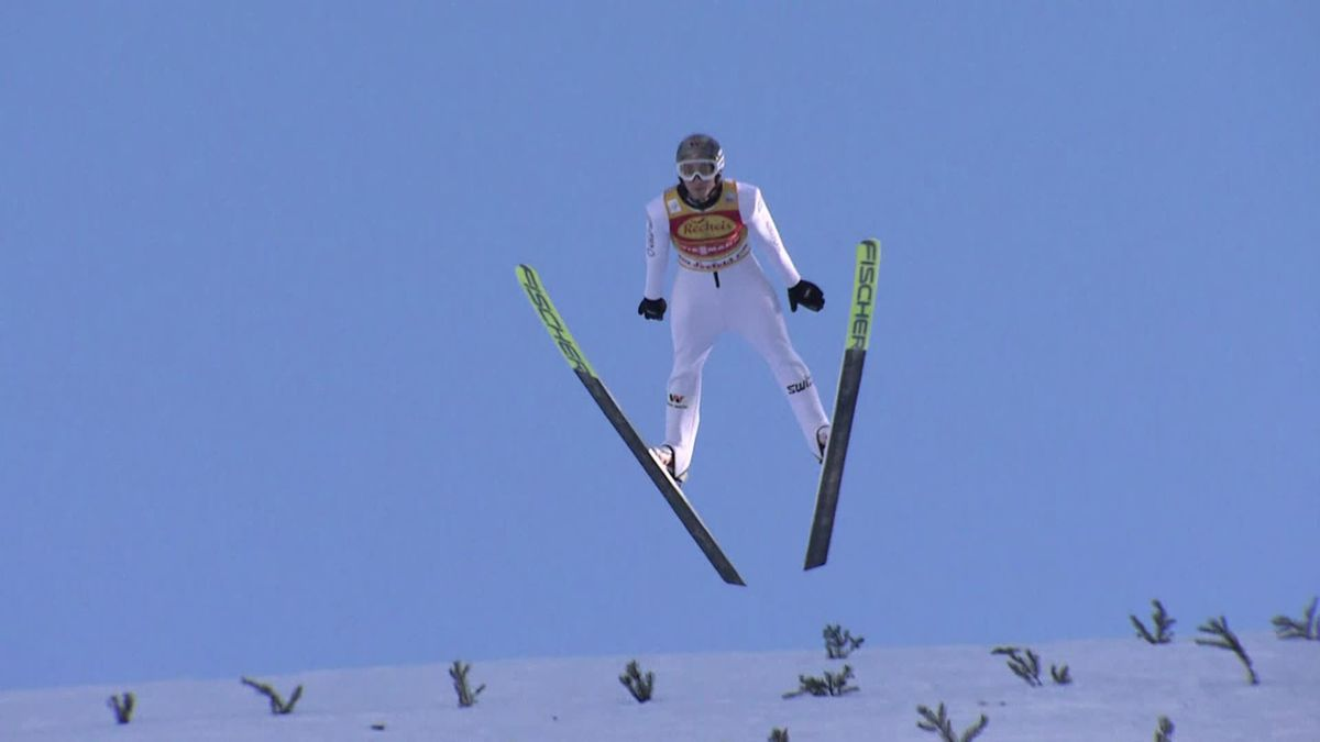 Nordic Combined Seefeld: Jarl Magnus (1st place) and Harald Johnas Riiber (2nd place) in the ski jumping run
