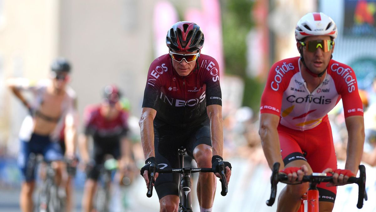 Arrival / Christopher Froome of The United Kingdom and Team Ineos / Fabio Sabatini of Italy and Team Cofidis / during the 44th La Route d'Occitanie - La Depeche du Midi 2020, Stage 1 a 187km stage from Saint Affrique to Cazouls lès Béziers / @RouteOccita