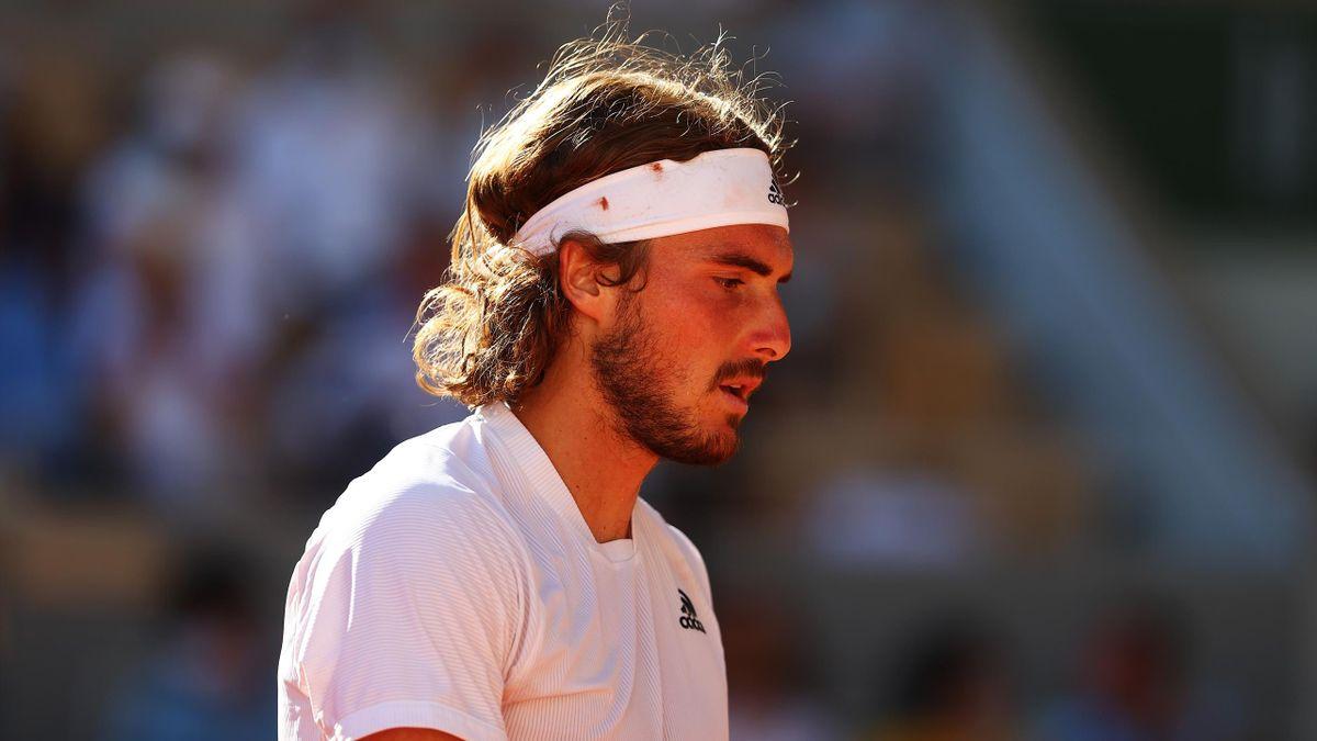Stefanos Tsitsipas à Roland-Garros en 2021