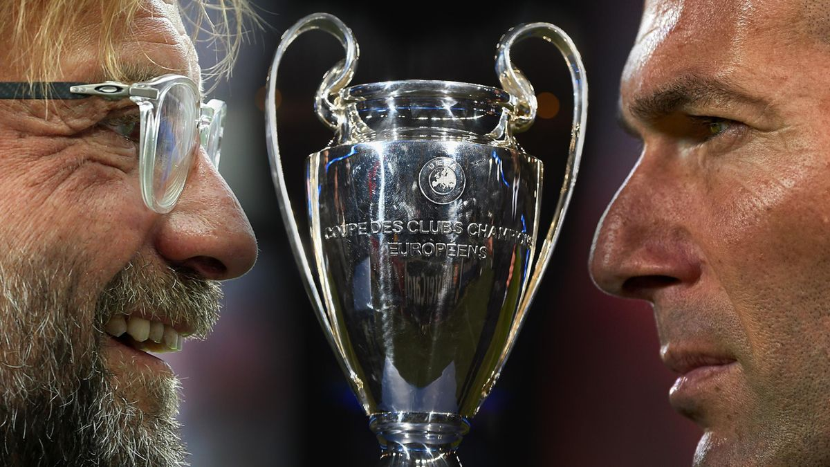 Jurgen Klopp (Liverpool) and Zinedine Zidane (Real Madrid) - Final Champions League 2018