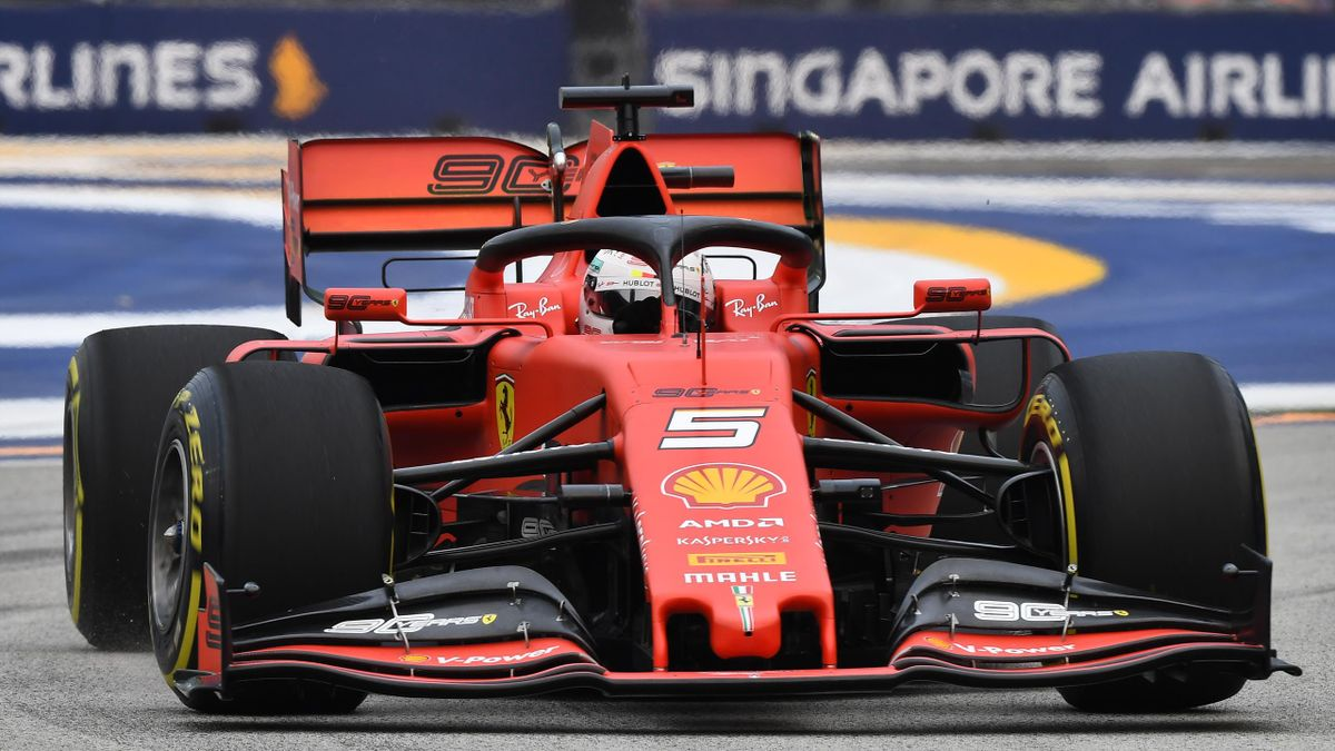 Sebastian Vettel belegte den dritten Platz in P2