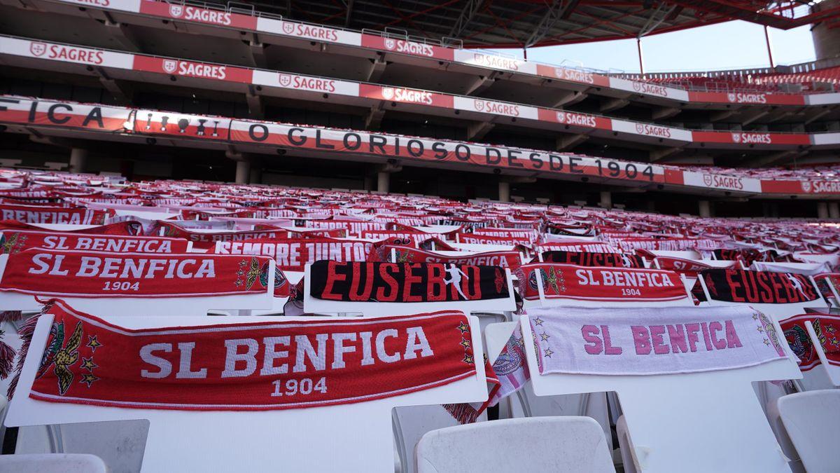 Les tribunes vides du stade de la Luz à Lisbonne