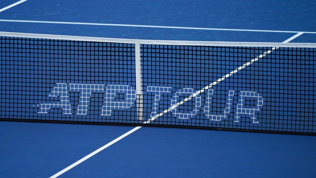 ATP logo, en una red