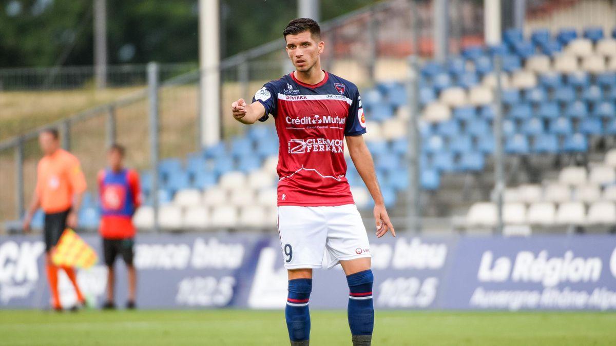 Adrian Grbic lors de Clermont-Chateauroux en Domino's Ligue 2, août 2019