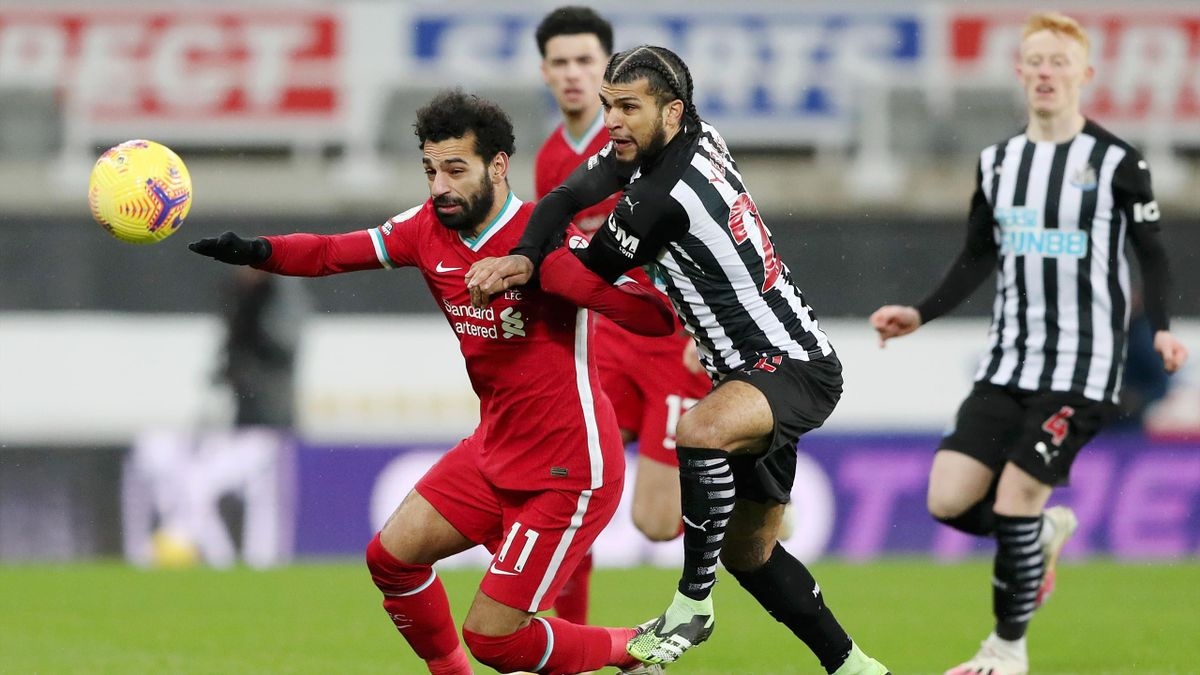 Liverpool-Star Mohamed Salah im Spiel gege Newcastle