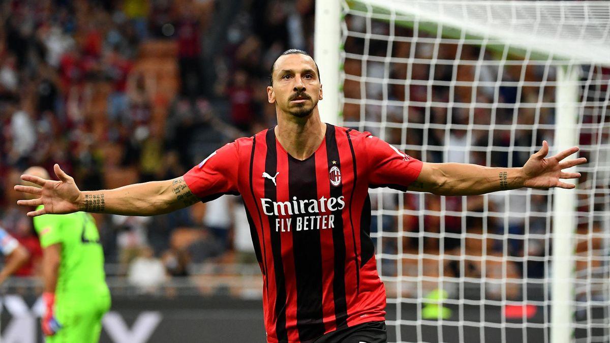 Zlatan Ibrahimovic, buteur face à la Lazio
