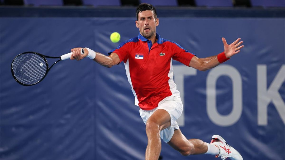 Novak Djokovic beim olympischen Tennisturnier in Tokio