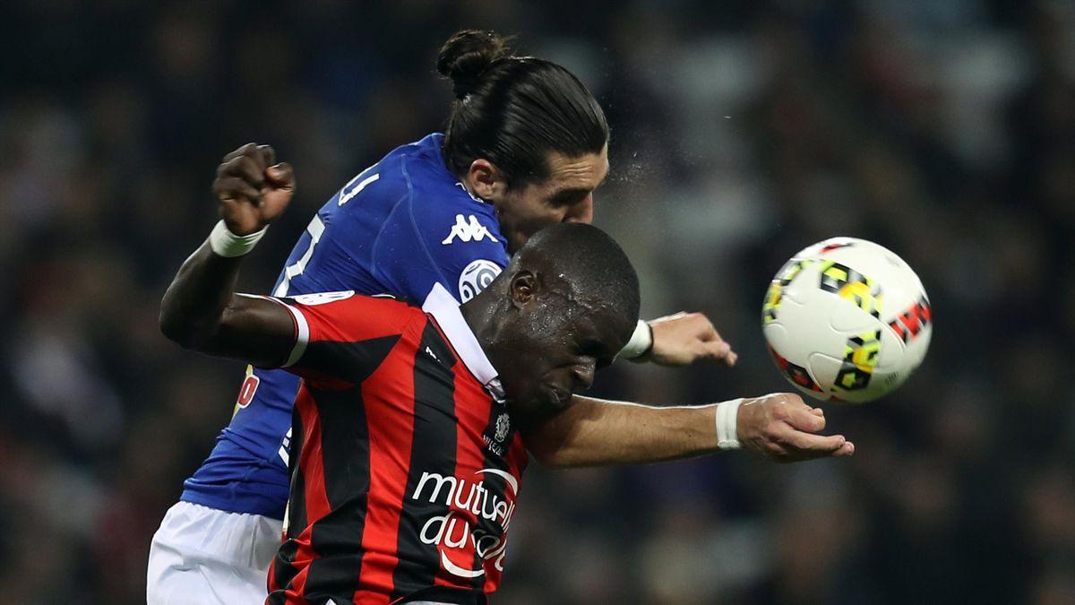 Malang Sarr en duel avec Enzo Crivelli lors de Nice-Bastia - 2016