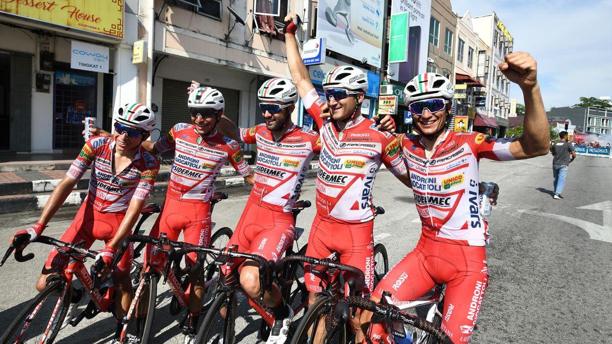 Freude beim Androni Giocattoli – Sidermec: Der italienische Rennstall erhält die dritte Giro-Wildcard