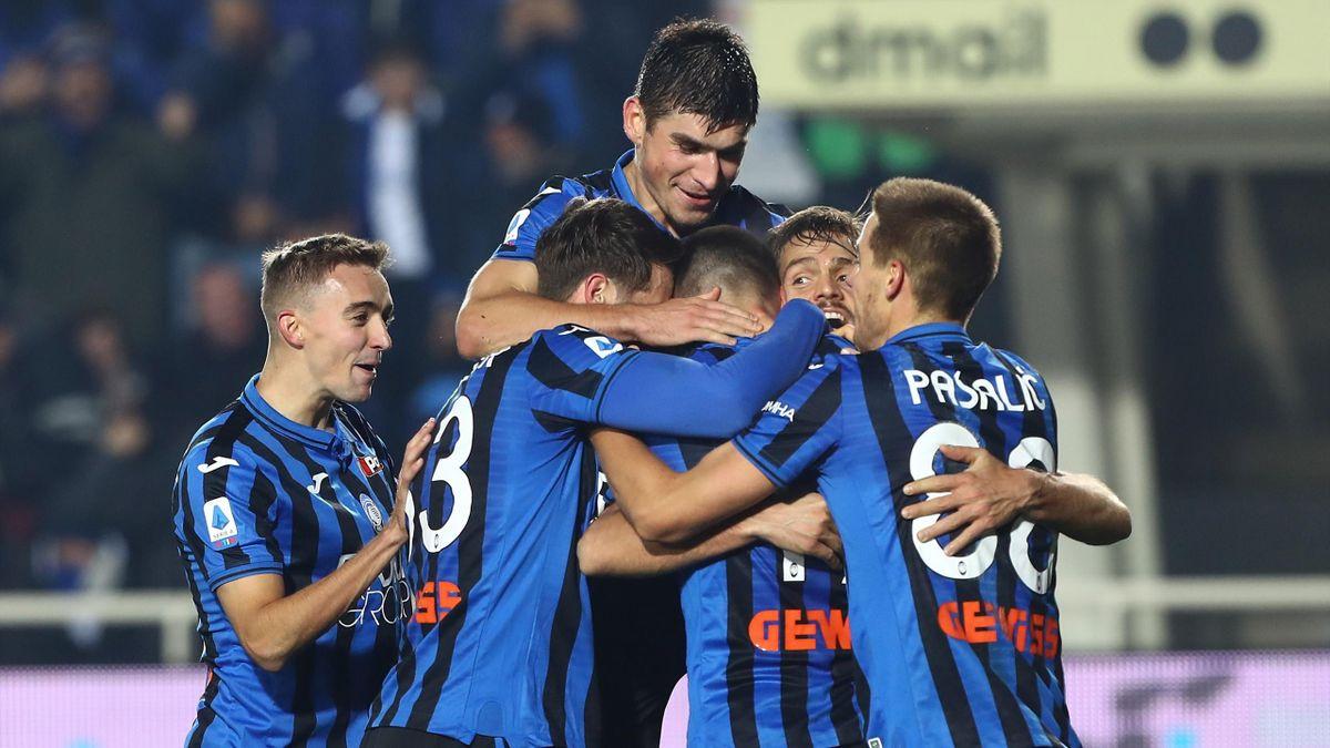 L'Atalanta esulta dopo un gol - 2019