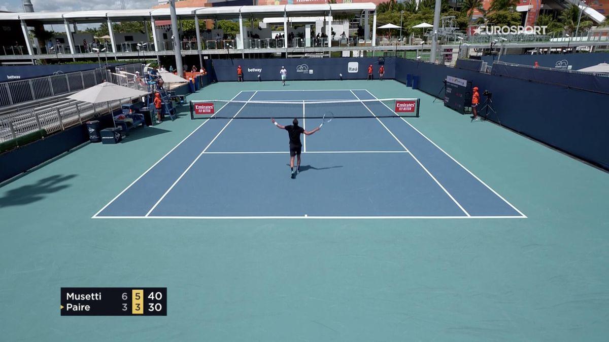 Paire al termine del match con Musetti al Masters 1000 di Miami: il francese perde ed esulta. In queste settimane le sue parole sul tennis nella bolla hanno fatto discutere