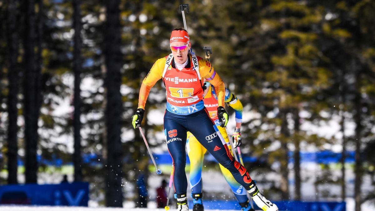 Denise Herrmann gewann bei der Biathlon-WM auf der Pokljuka einzig mit der Staffel eine Medaille