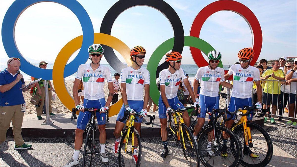 Vincenzo Nibali, Fabio Aru, Damiano Caruso, Diego Rosa, Alessandro De Marchi - 2016 Olympics Games (Olimpiadi, giochi olimpici) - Getty Images