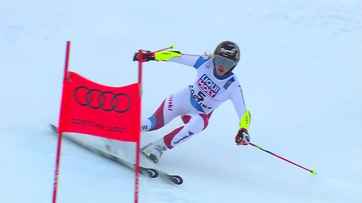 Lara Gut, campeona del mundo de eslalon gigante en Cortina d'Ampezzo