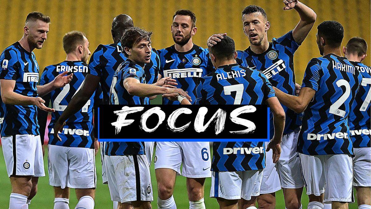 L'Inter a Parma ha ottenuto la 6a vittoria consecutiva portando a 6 punti il vantaggio sul Milan, Getty Images