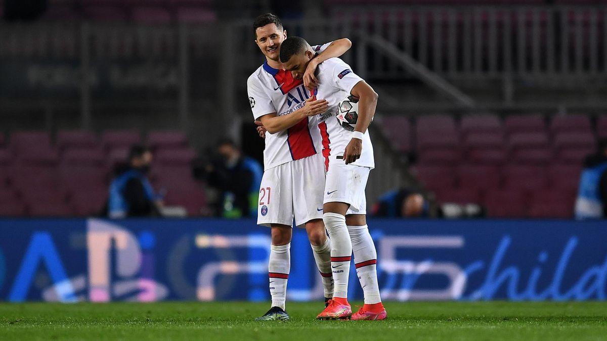 Andrea Herrera (links) und Kylian Mbappé